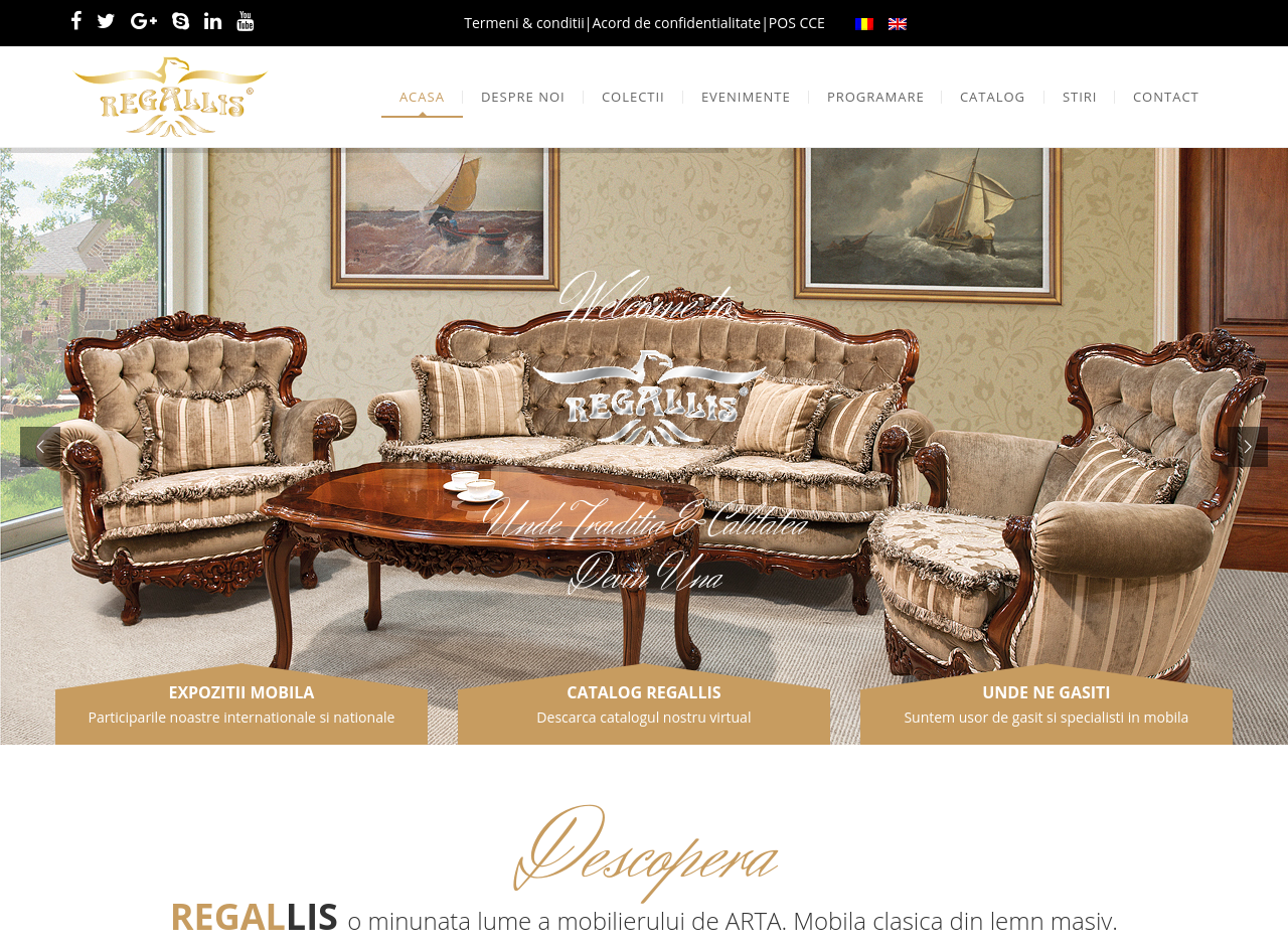 Regallis website view